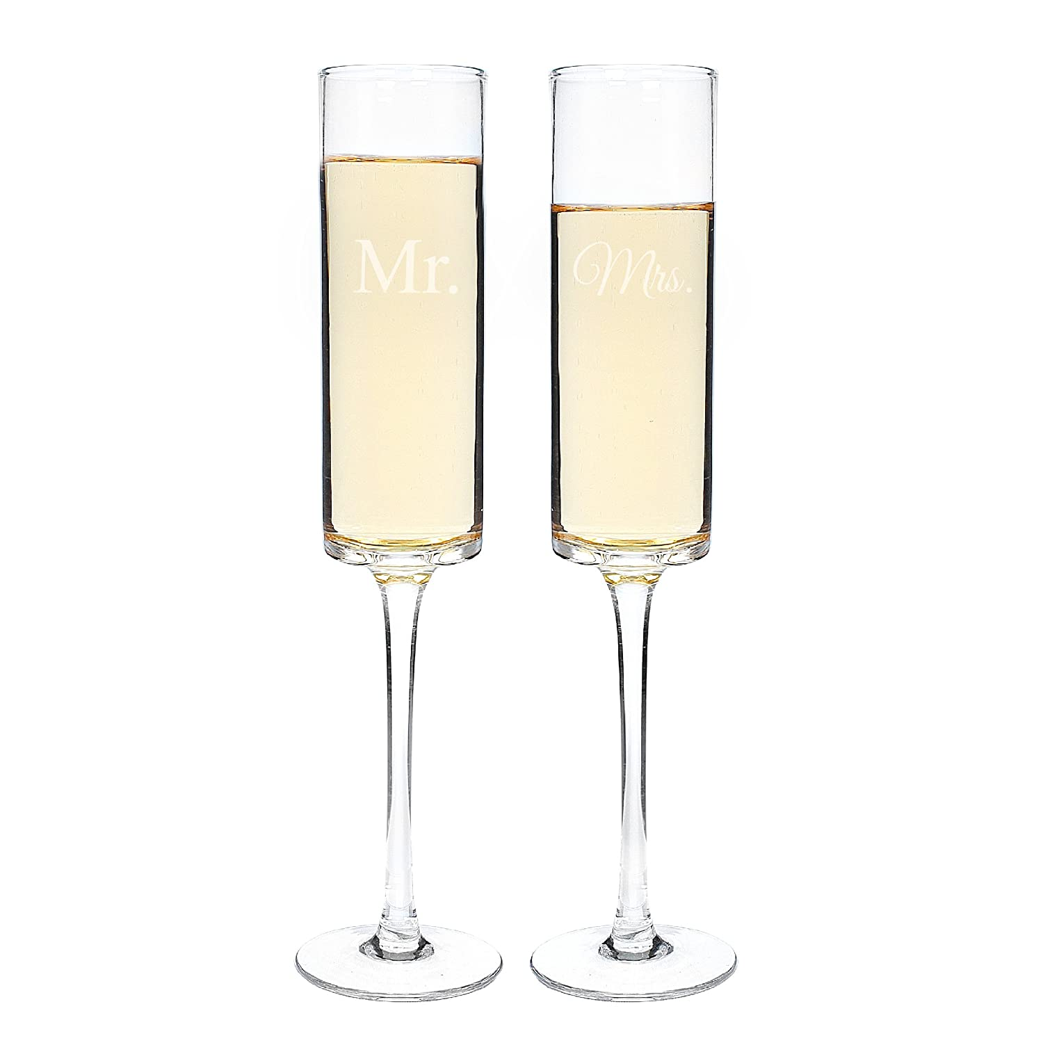 amazoncom  cathy's concepts mr  mrs contemporary champagne  - amazoncom  cathy's concepts mr  mrs contemporary champagne flutes mrmrs champagne flutes champagne glasses