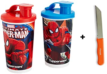 Tupperware Spider-Man juego de vasos, 355 ml, Set de 2 libre ...