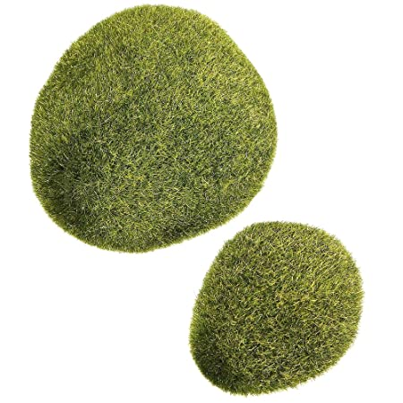 Welecom Marimo Moss Balls Artificial Grass Stones Turf Mini Fairy