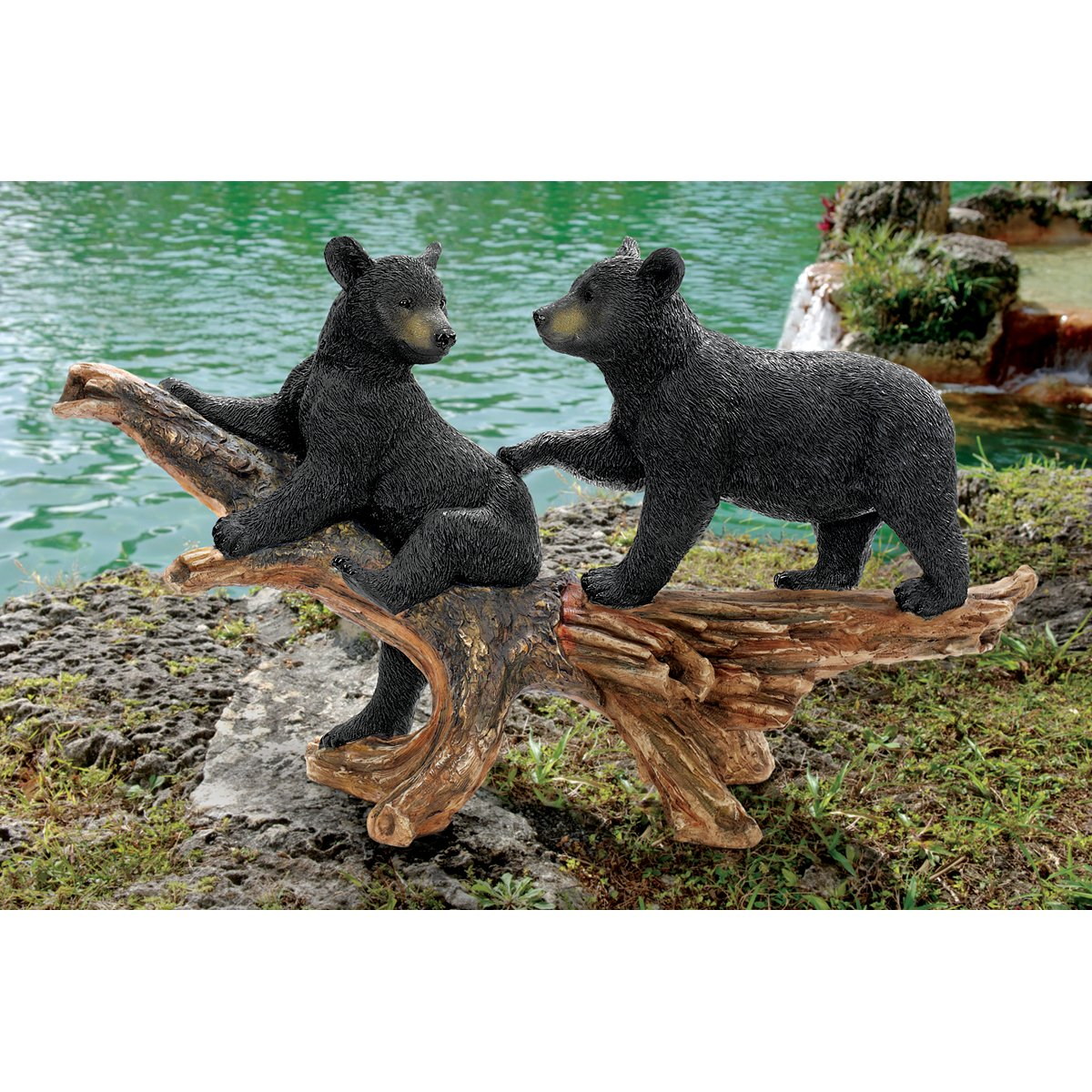 Amazon.com : Design Toscano Mischievous Bear Cubs Sculpture : Outdoor  Statues : Garden U0026 Outdoor