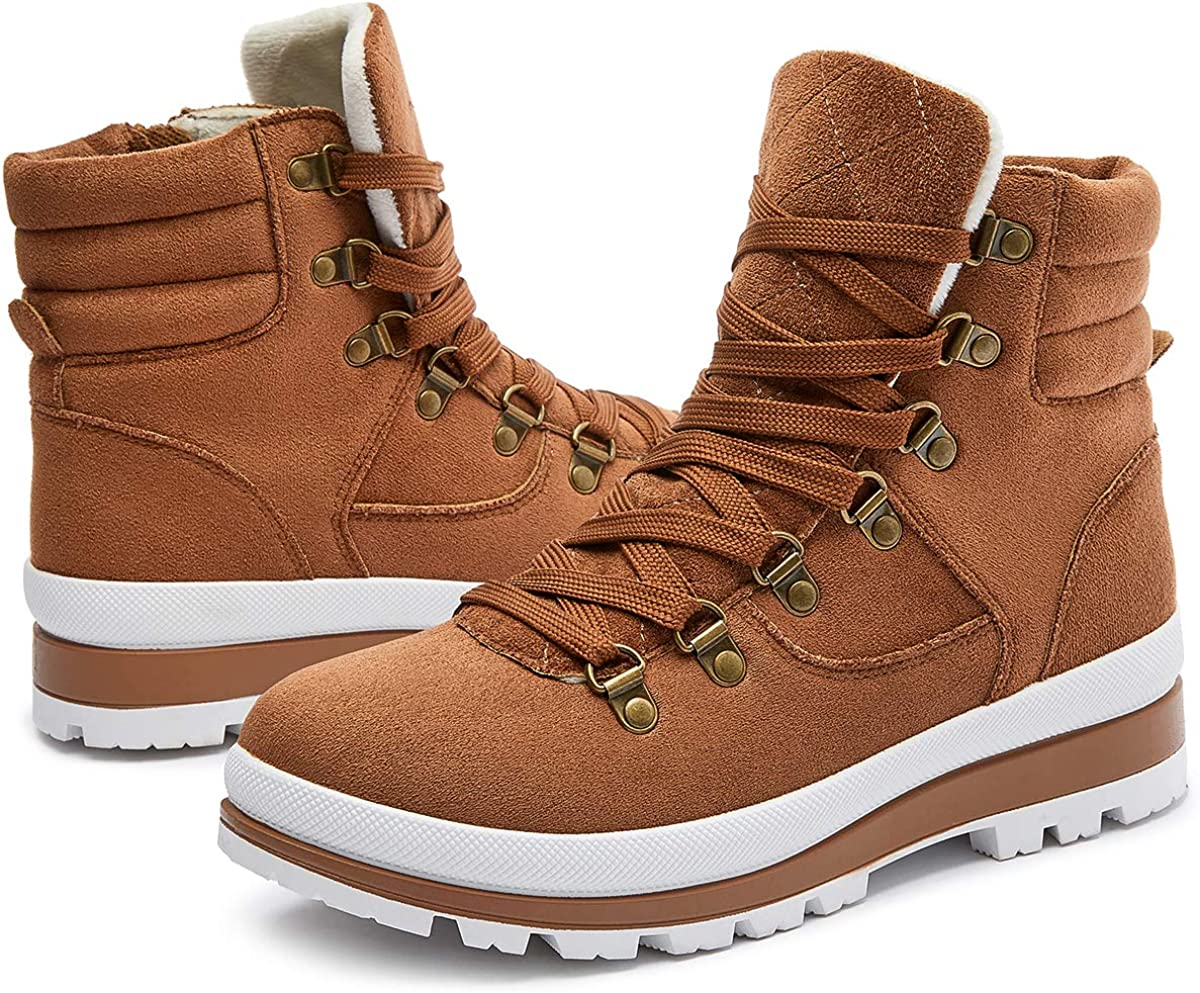 Women/'s Warm Fur Lined Boots High Canvas Sneakers Suede Winter Snow Boots New