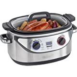 VonShef 8 in 1 Multi Slow Cooker 5.5L Stainless Steel - Slow Cook, Simmer, Sear, Roast, Bake, Steam & Warm