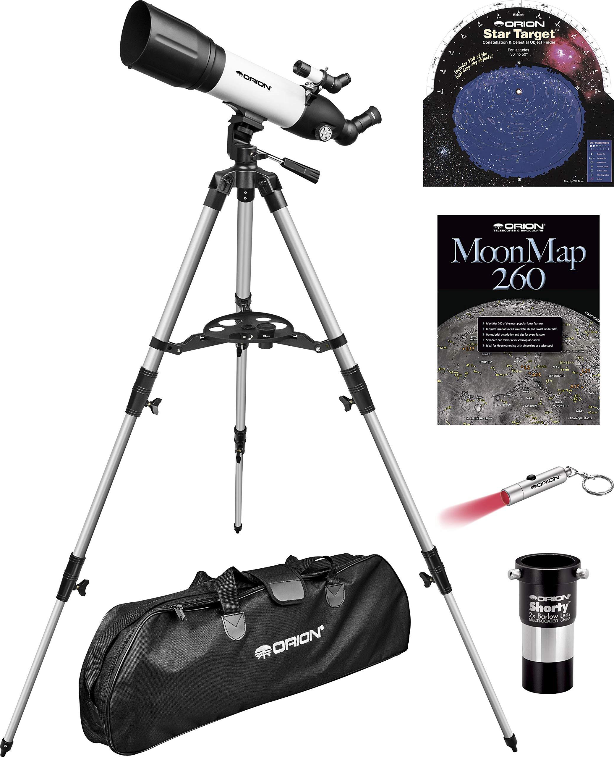 Orion StarBlast 90mm Altaz Travel Refractor Telescope Kit by Orion