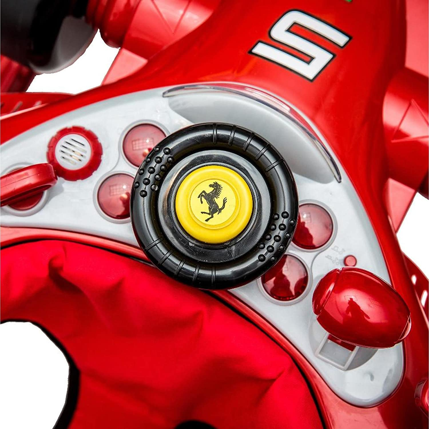 Combi Ferrari F1 Foldable Baby Walker With Racing Wheels Steering Wheel Activity Center And Built In Snack Tray