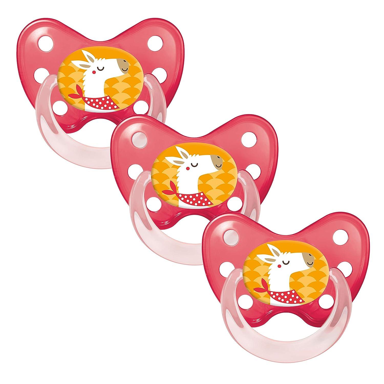 BPA frei Ananas ab 14 Monate 3 zahnfreundlich /& kiefergerecht Dentistar/® Schnuller 3er Set rot Silikon Nuckel in Gr Beruhigungssauger f/ür Babys und Kleinkinder Made in Germany