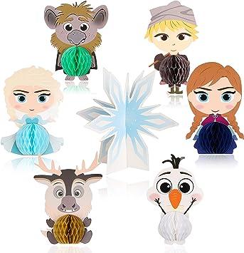 Amazon.com: Ticiaga - 7 centros de mesa de panal de Frozen ...