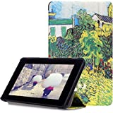 Fire 7 2015 Case, Pasonomi® Ultra Slim Lightweight PU Leather Folio Case Stand Cover for Amazon Kindle Fire 7 inch Display Tablet (5th Generation-2015 Release Only) , Country