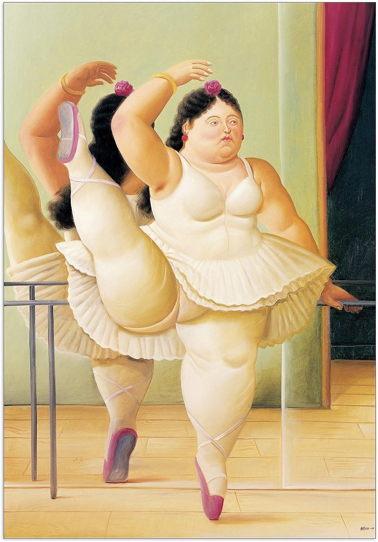 Artopweb Pannelli Decorativi Botero The Bath Quadro Multicolore Legno 63x1.8x77 cm