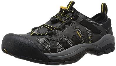f67192b14af9 KEEN Men s McKenzie Athletic Sandals Grey Black Gargoyle  Amazon.co ...