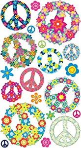 Sticko Floral Peace Signs Stickers