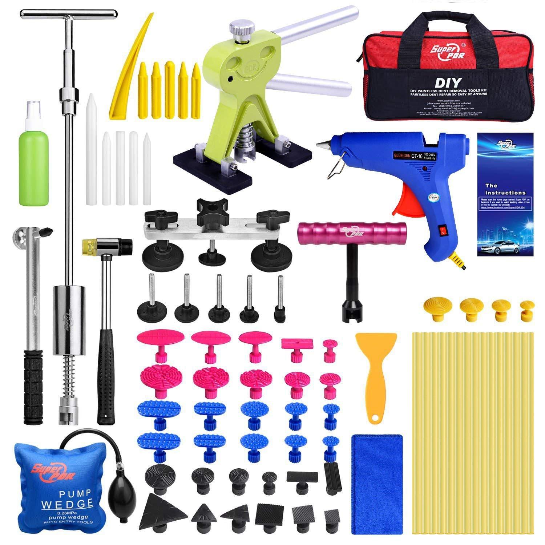 Super PDR 10pcs PDR Glue Sticks Yellow Hot Melt Glue Sticks Car Paintless Dent Repair Tool Suit PDR Glue Gun, 6.60.43in