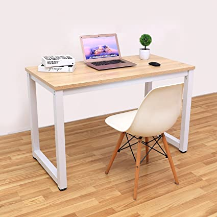 a8b9076bb Image Unavailable. Image not available for. Color  Decho 47 quot  Modern  Simple Style Computer Desk PC Laptop Study Table Workstation for Home Office