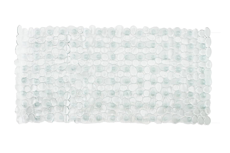 Brandsseller-Tappetino per Vasca da Bagno Antiscivolo in Effetto Pietra Bianco 70x35cm