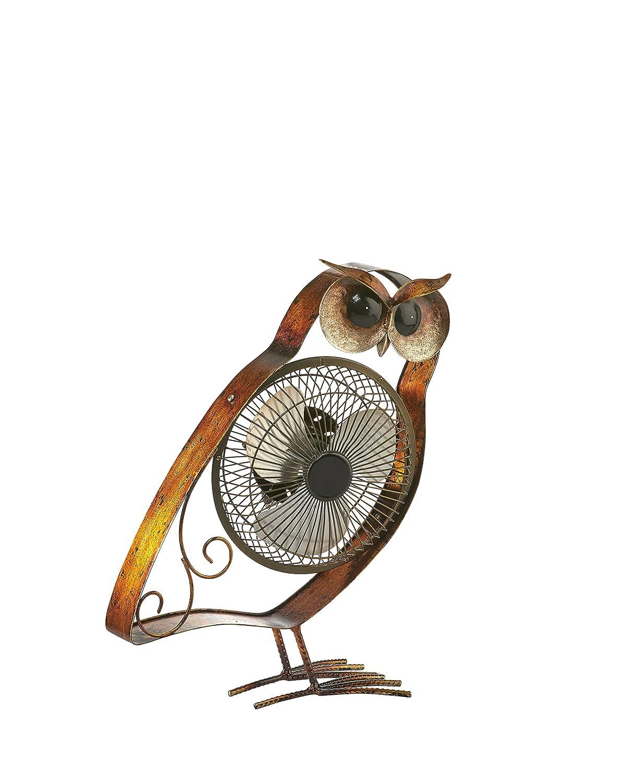 DecoBREEZE Portable Table Fan USB Fan, 6 in, Owl
