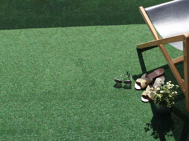 Balcon etc Tapis Gazon Artificiel GREEN avec Picots de Drainage Vert 4,00m x 10,00m Tapis Type Gazon Synth/étique au m/ètre Jardin Terrasse Moquette dext/érieur