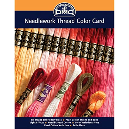 Amazon Dmc Colorcrd Needlework Threads 12 Page Printed Color