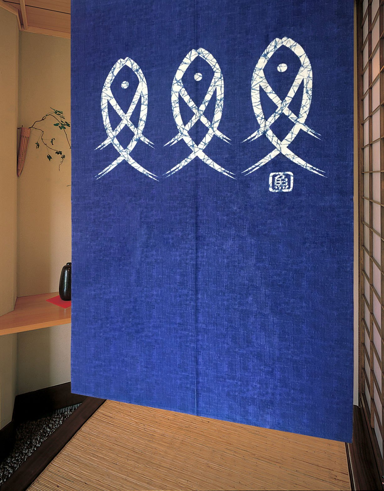 LifEast Japanese Noren Ancient Character Fish Door Curtain by LifEast