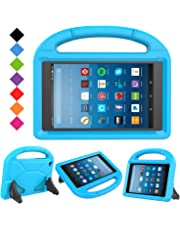 BFTOP All-New Fire HD 8 2018/2017 Case - Light Weight Shock Proof Kids Case Cover for All-New Fire HD 8 inch Tablet (8th Generation & 7th Generation, 2018 & 2017 Release), Blue