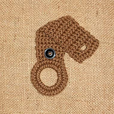 Light Brown Crochet Hanging Dish Towel Holder, Kitchen Decor