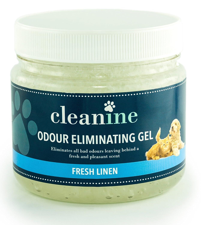 Cleanine Fresh Linen Pet Odour Eliminator Gel Professional Odour Control Air Freshener