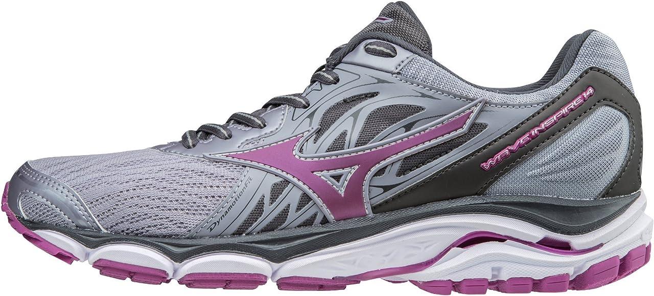 Amazon.com | Mizuno Women's Wave Inspire 14 Running Shoe, Dapple  Gray/Clover, 6 B US | Road Running