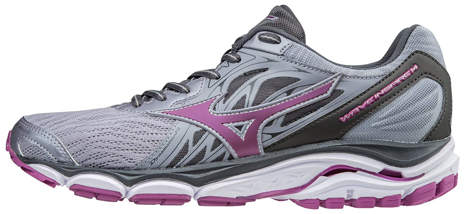 Mizuno Women's Wave Inspire 14 Running Shoe B06ZZ5HWPW 6.5 B(M) US|Dapple Gray/Clover