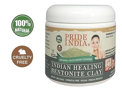 Pride Of India Curación Indio Arcilla de bentonita Natural de la Cara Máscara de Polvo,