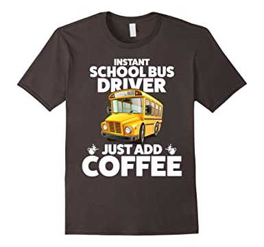 1bbae7a7 Image Unavailable. Image not available for. Color: Men's Funny School Bus  Driver T Shirt 3XL Asphalt