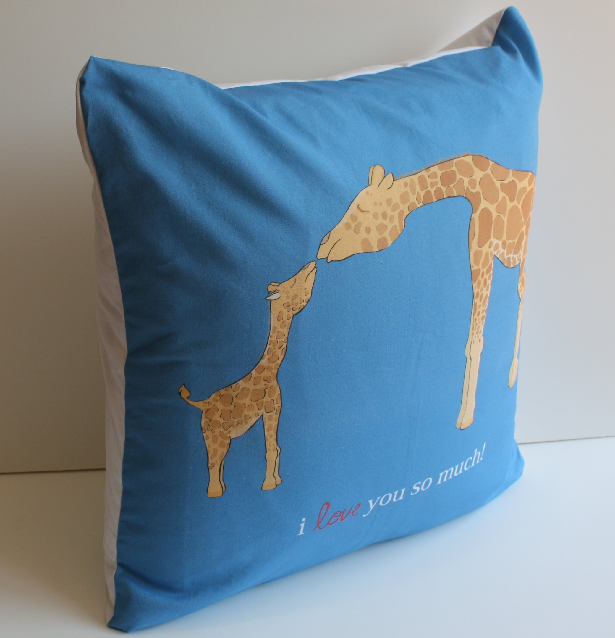 I Love You so Much Giraffe Pillow Cover