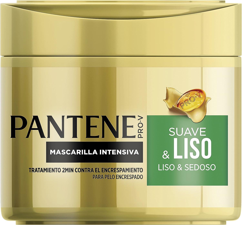 Pantene Suave & Liso Mascarilla, Protege para Conseguir un Pelo Liso y Sedoso- 300 ml