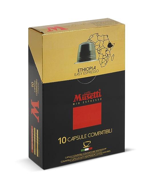 musetti – Cápsulas de Café Compatibles único origen Etiopía 10 pcs