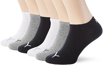 0915058a8c PUMA Unisex Sneakers Socken Sportsocken 6er Pack grey-white-black /  grey-white