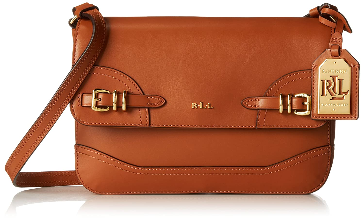 Ralph Lauren Ladies Leather Medium Messenger Crossbody Bag Tan Brown Gift  Box  Amazon.co.uk  Shoes   Bags 89dce5f98d4fa