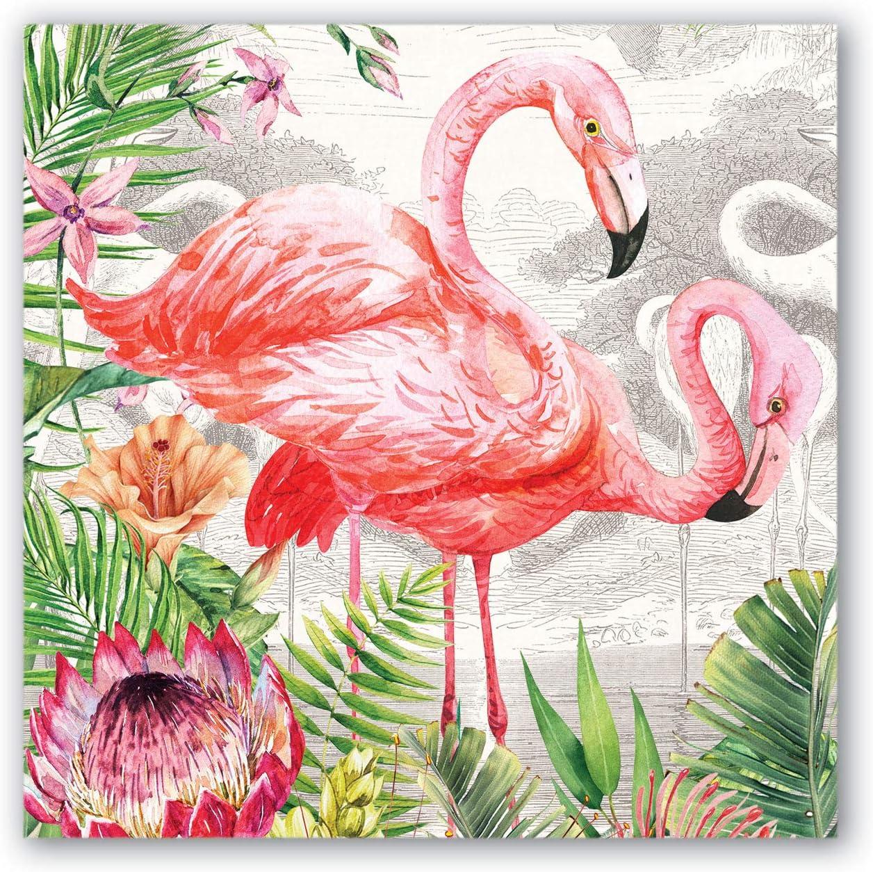 Michel Design Works Vanity Decoupage Wooden Tray Flamingo
