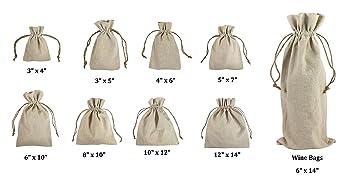 Amazon.com: 12 pack-natural ropa Favor Bolsas, bolsas de ...