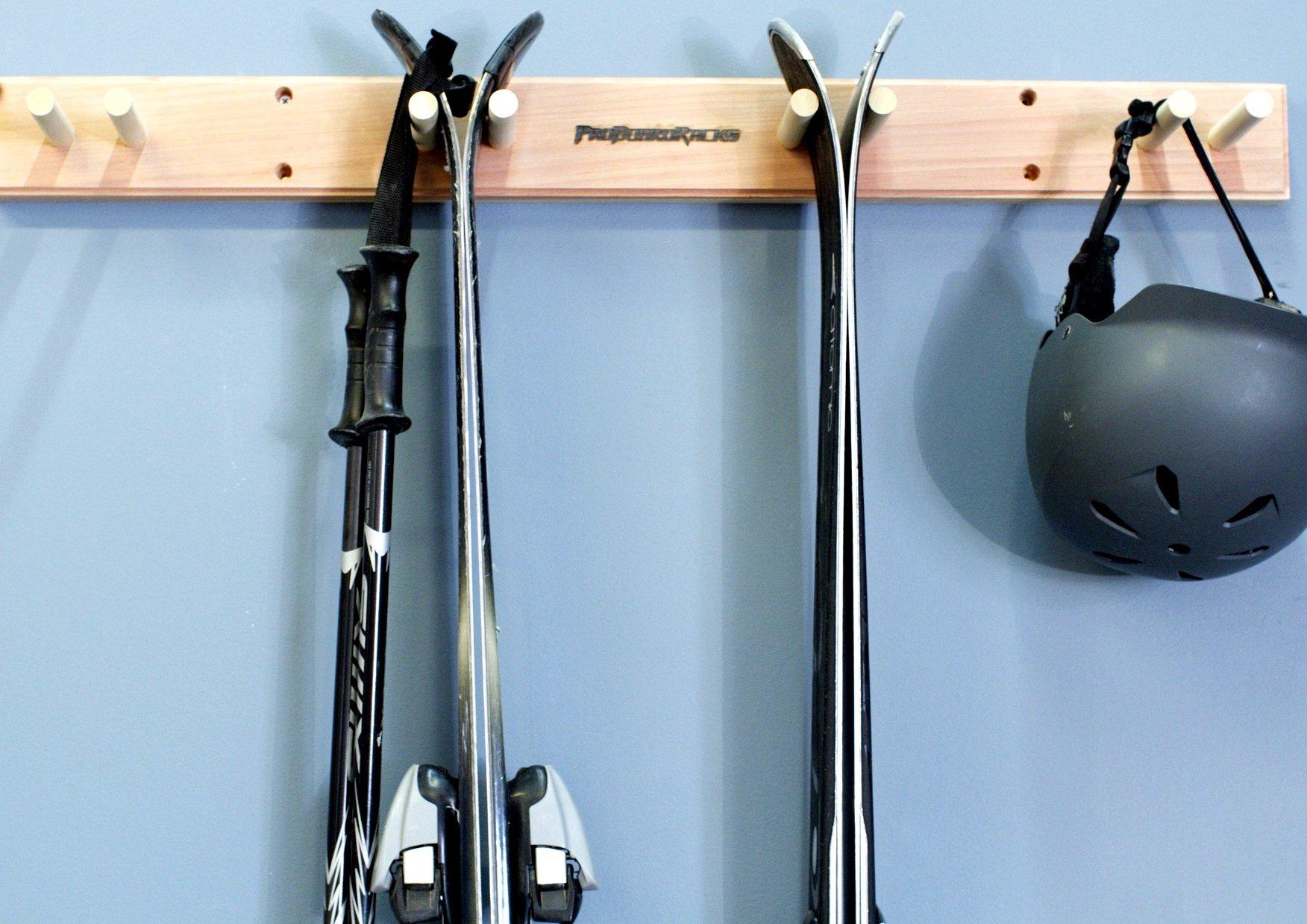 Pro Board Racks Ski Wall Rack Mount - 4 Vertical Sets of Skis