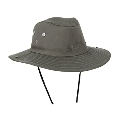 d42cf2bc9e61c Mens Forest Brown Wide Brim Packable Boonie Fishing Sun Hat - Snap Up Sides