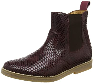 FRODDO Chelsea Boot G3160065, Bottes Chelsea Fille - Rouge - Red (Bordeaux Python), 33 EU