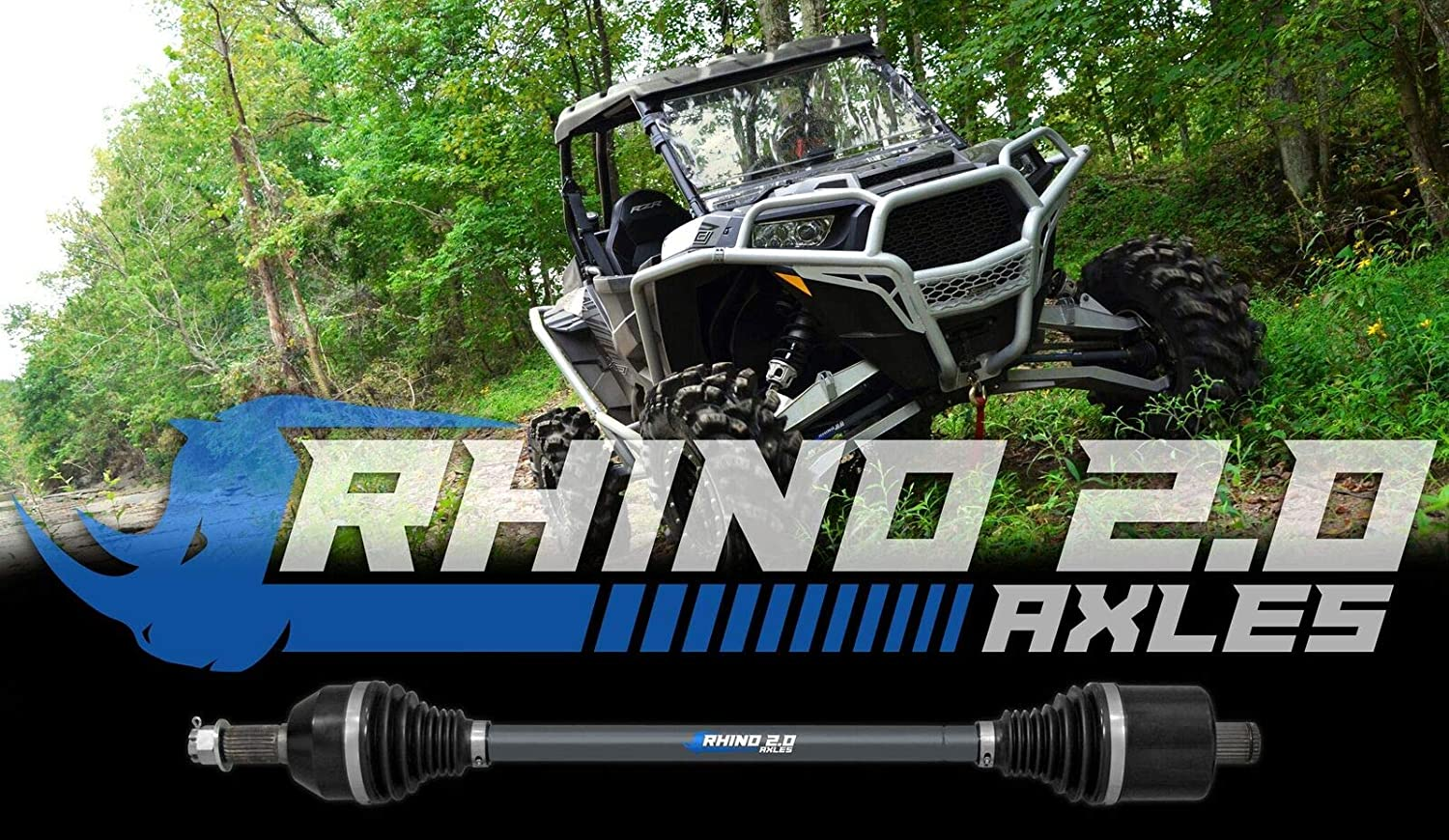 2016+ REAR SuperATV Rhino 2.0 Polaris RZR XP Turbo For Use With SuperATV 10 Lift Extended Length CV Axle