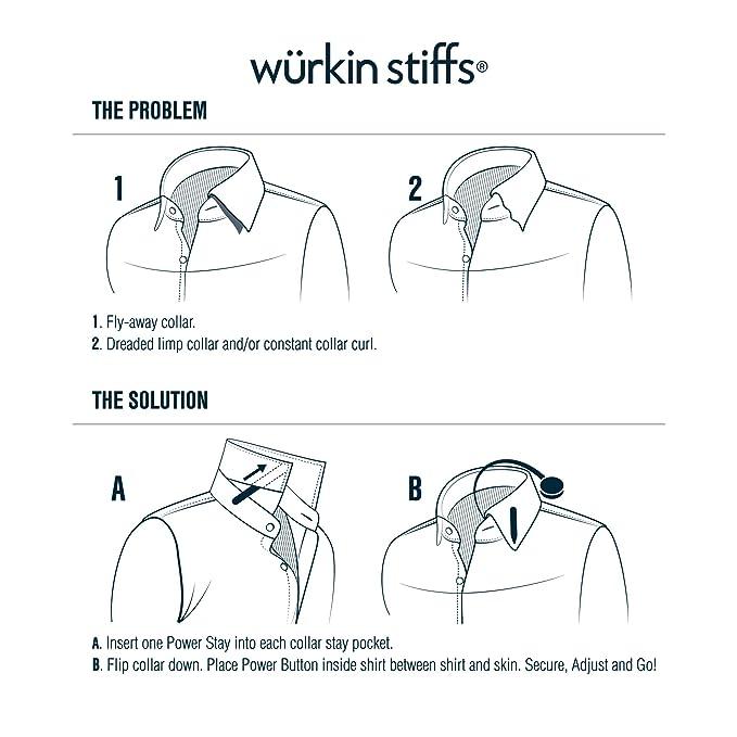 Wurkin Stiffs Estancias magnéticas del collar para hombre 3 pares ...