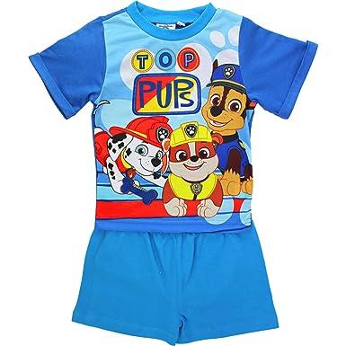 54a337850aa Boy's PAW Patrol Top Pups Short Sleeved Summer Pyjamas Set (18-24 Months)