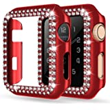 adepoy Apple Watch Case 44mm Series 6/5/4 SE Bling Rhinestone Apple Watch Protective Case Bumper Frame Screen Protector Case