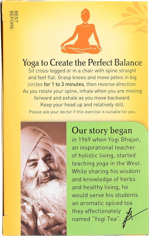 Yogi Tea Organic 16 bolsas de té: Amazon.com: Grocery ...