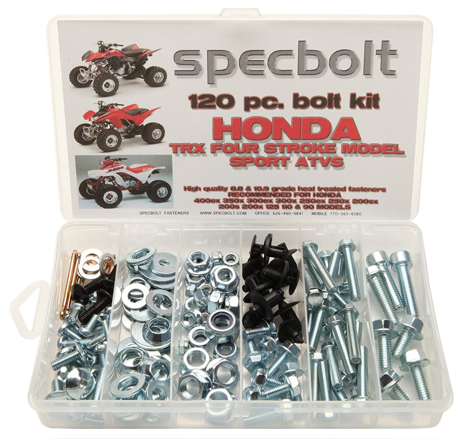 150pc Specbolt Honda 400EX /& 250EX Bolt Kit for Maintenance OEM Spec Fasteners Quad TRX400EX TRX250X aslo great for ATC /& TRX 350x 300ex 300x 250ex 250x 200sx 200s 200x 125cc 110cc /& TRX90 models
