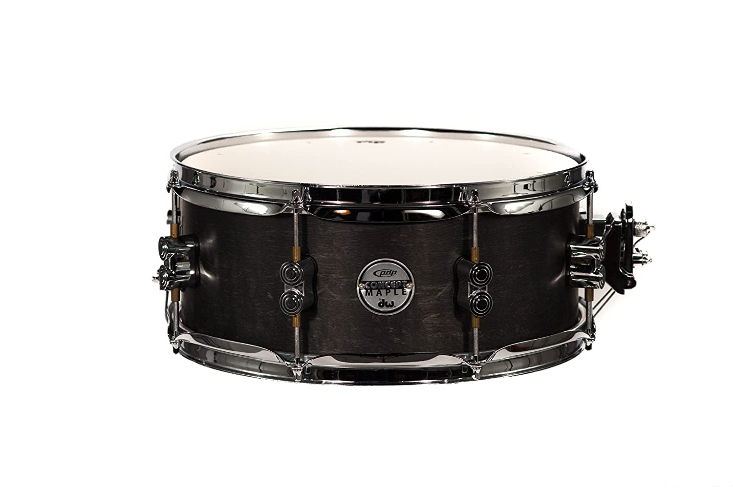Amazon.com: PDP By DW Black Wax Maple Snare Drum 5.5x13: Musical ...
