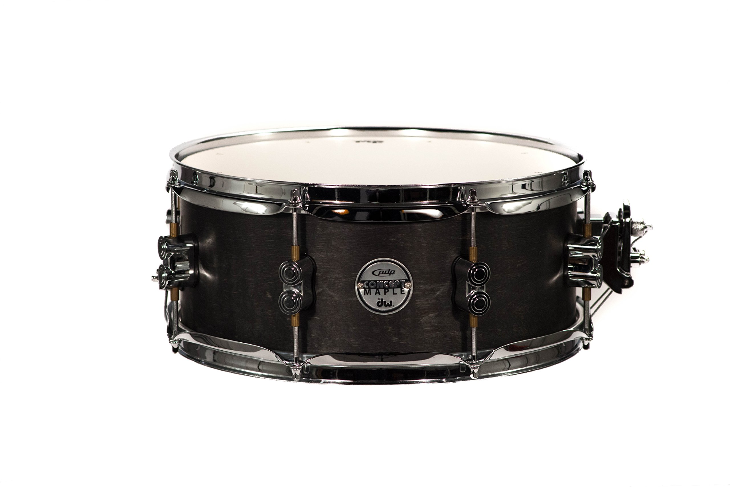 PDP By DW Black Wax Maple Snare Drum 5.5x13 by Pacific