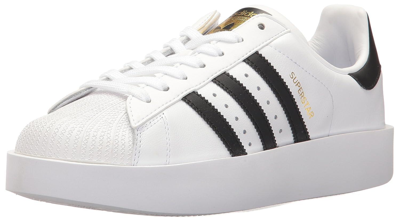 adidas Originals Women's Superstar Bold W Sneaker B01NGWL2K4 5.5 B(M) US|White/Black/Metallic Gold