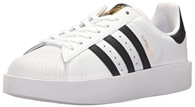 newest 409fe e6797 adidas Originals Women s Superstar Bold Running Shoe White Black Metallic  Gold (9.5 M