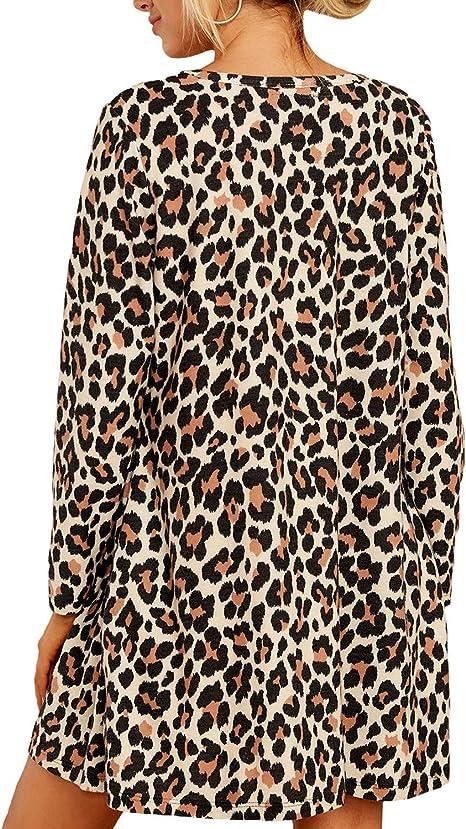 club dress party dress Leopard print Christmas mini dress long ruffle sleeve waist tie up low cut New Year gift