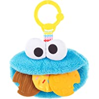 Bright Starts Sesame Street Cookie Mania Teether On-The-Go Take-Along Toy, Ages 3-12 Months